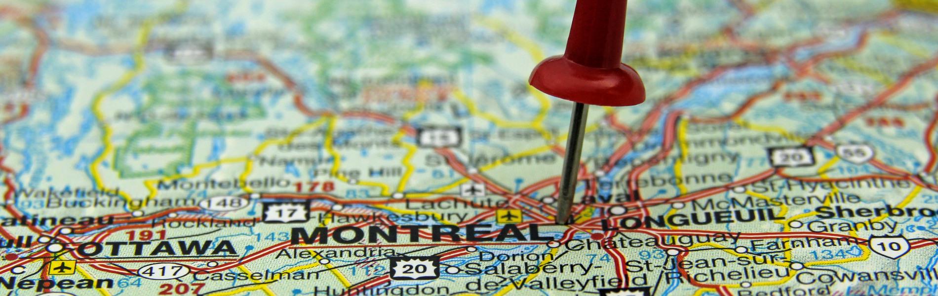 Carte de Montréal