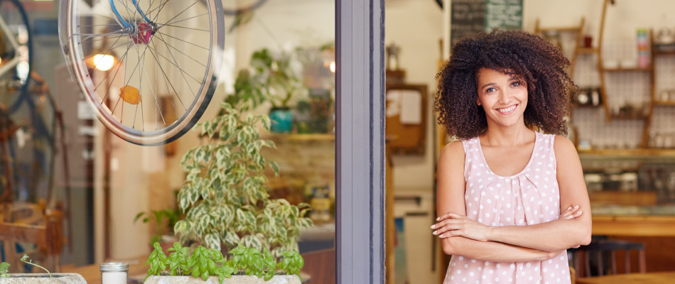 Jeune femme entrepreneuse