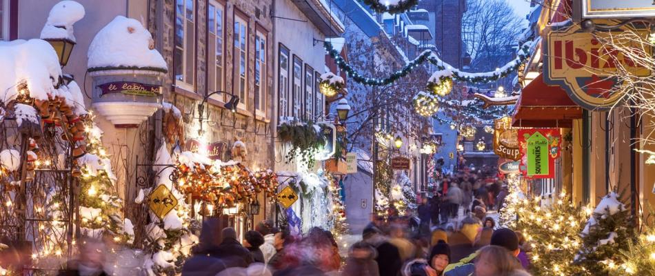 Rue de Québec en hiver